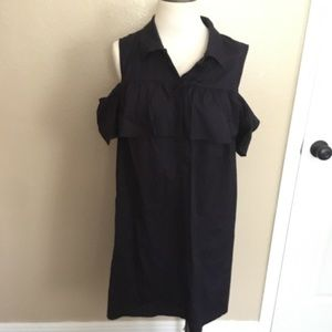 Macy's Navy Charter Club Mini Off Shoulder Dress